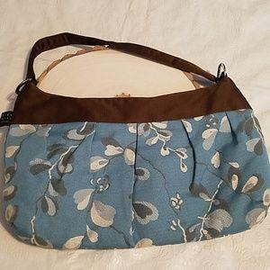 1154 Lill Studio Blue & Brown Handbag